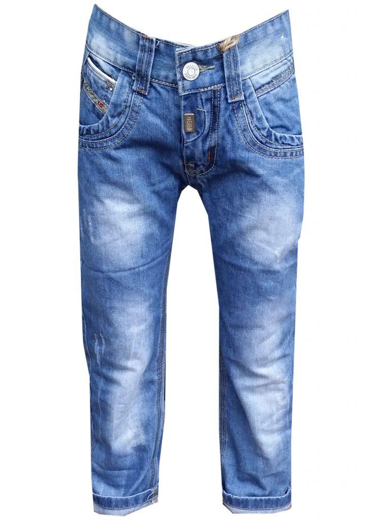 jongens jeans fashion cl Stoere jeans voor jongens met stoere geborduurde applicatie's en diverse zakken In de taille zit verstelbaar elastiek artikelnummer jb3178
