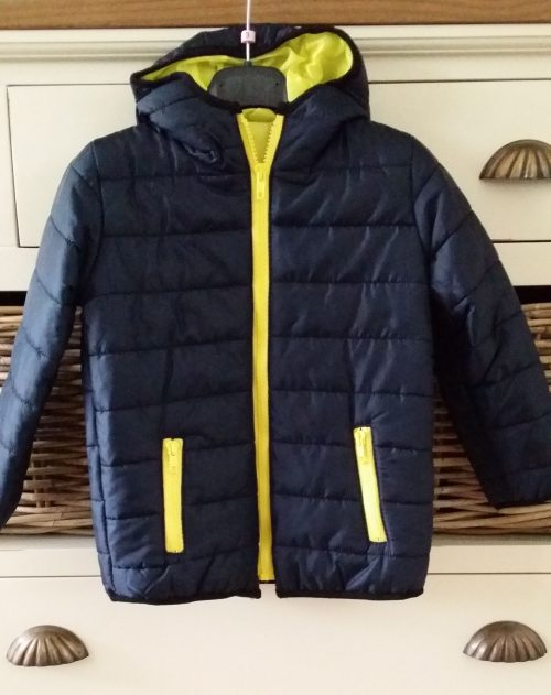 najaarsjas/winterjas donkerblauw