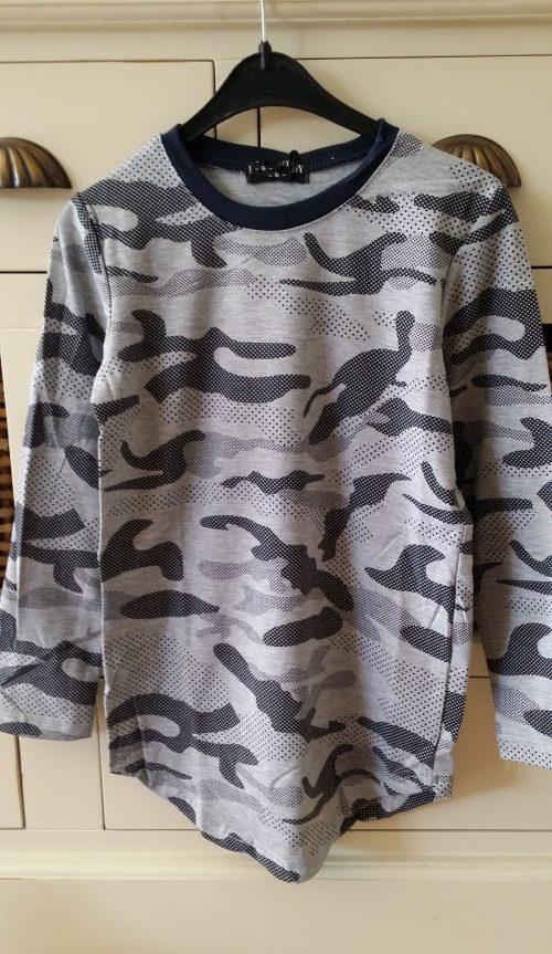 camouflage long shirt grijs