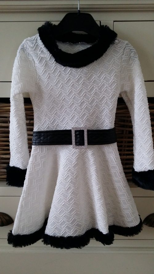 jurk glitter offwhite